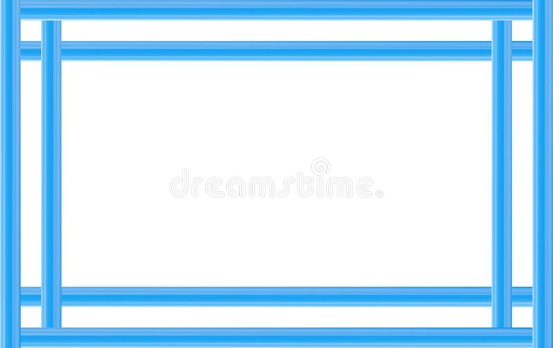 Die blaue Feldlinie, einfache Geraden basieren Webdesignpostkarte lizenzfreie abbildung