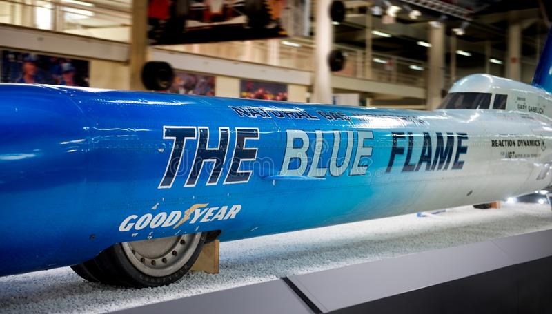 Die blaue Flamme - Museum Sinsheim stockfotografie