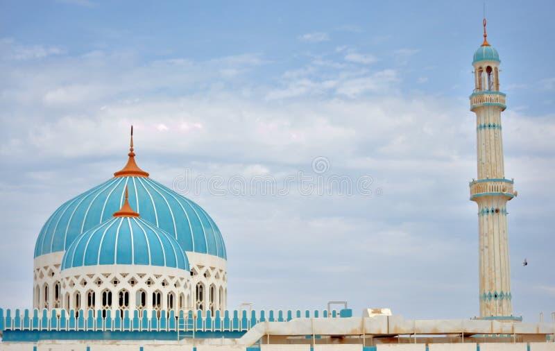 Die blaue gewölbte Moschee stockbilder