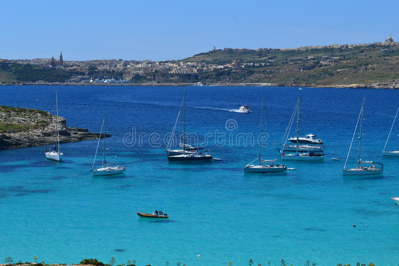 Die blaue Lagune in Malta lizenzfreies stockbild