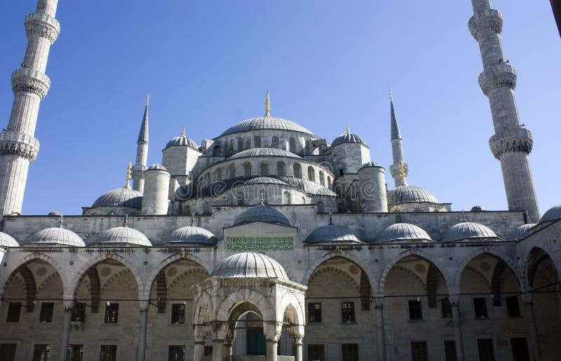 Die blaue Moschee in Istanbul die Türkei stockfotos