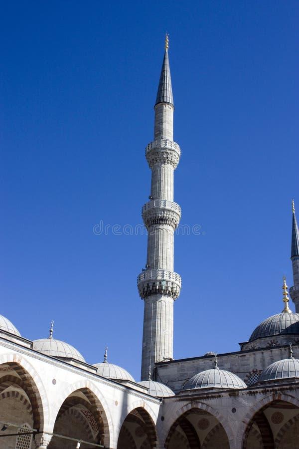 Die blaue Moschee in Istanbul die Türkei stockbild