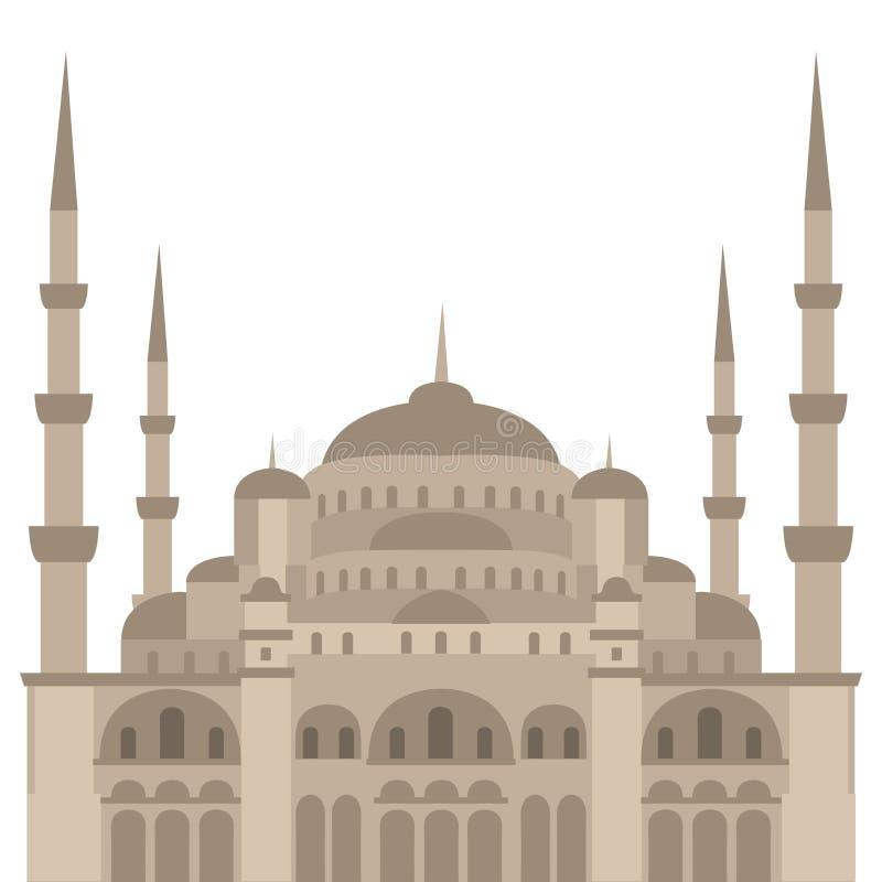 Die blaue Moschee, Sultanahmet Camii, islamische Architektur Istanbuls, die Türkei, Mittlerer Osten vektor abbildung