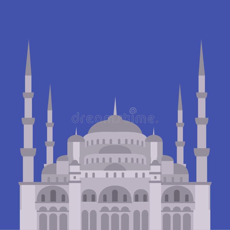 Die blaue Moschee, Sultanahmet Camii, islamische Architektur Istanbuls, die Türkei, Mittlerer Osten lizenzfreie abbildung