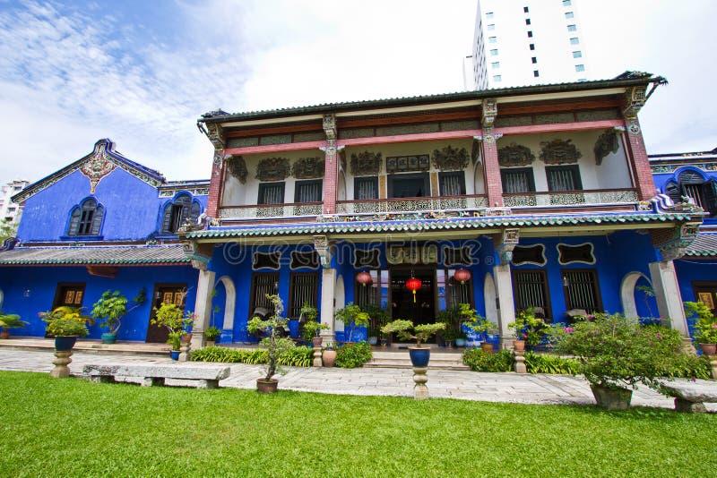 Die blaue Villa stockfotografie