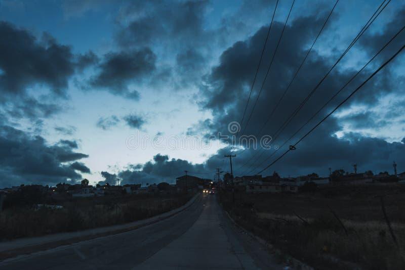 Die blaue Wolke stockbild
