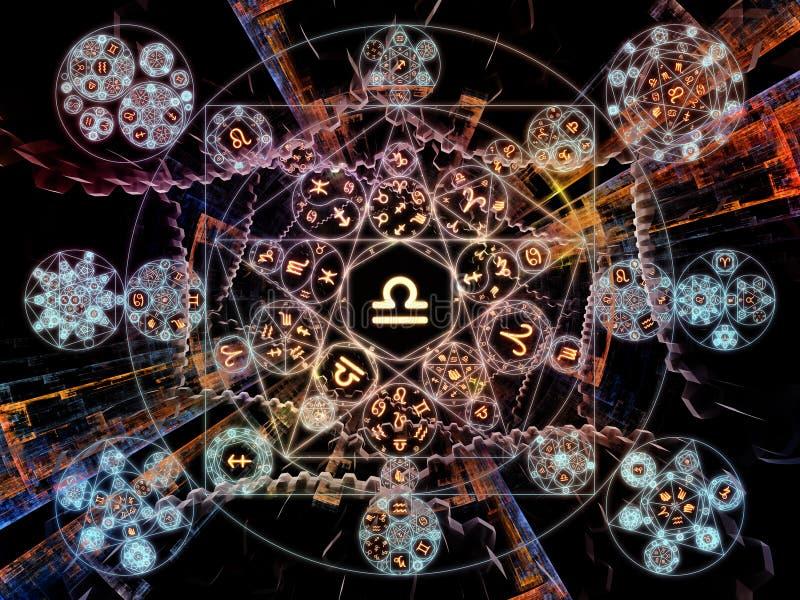 Die Blume der symbolischen Bedeutung vektor abbildung