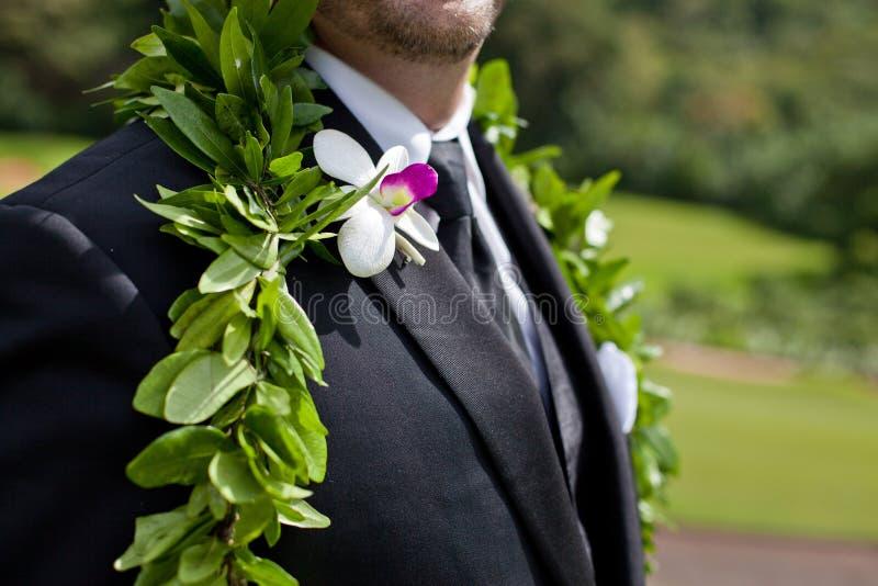 Die Blumen des Bräutigams lizenzfreies stockbild