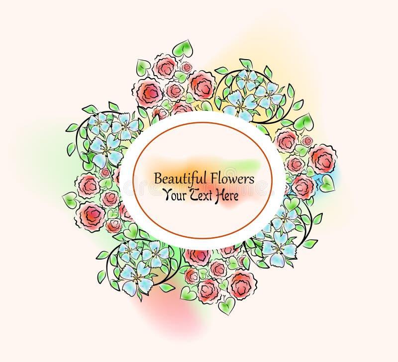 Die Blumenschablone stock abbildung