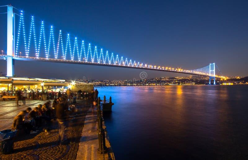 Die Bosporus-Brücke, Istanbul. stockfotos