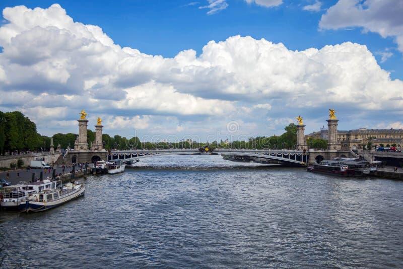 Die Brücke Alexandre 3, Paris, Frankreich 11. Mai 2019 stockbilder