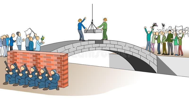Die Brücke der Desillusion stock abbildung