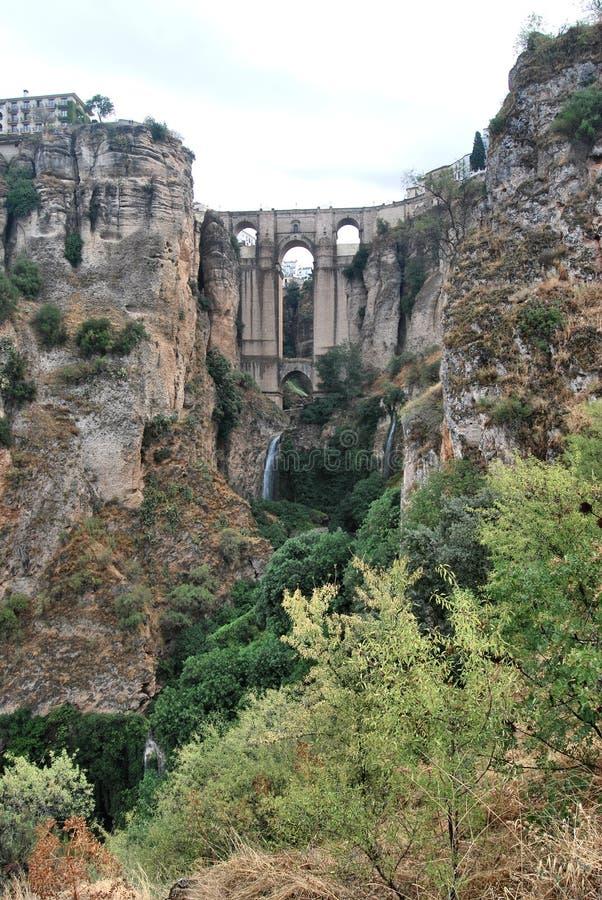 Die Brücke von Ronda stockbild