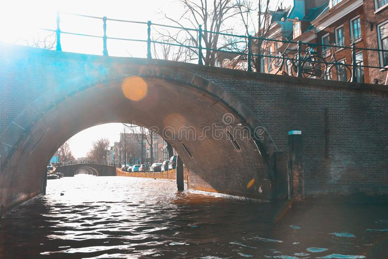 Die Brücken von Amsterdam, die Niederlande lizenzfreie stockfotos