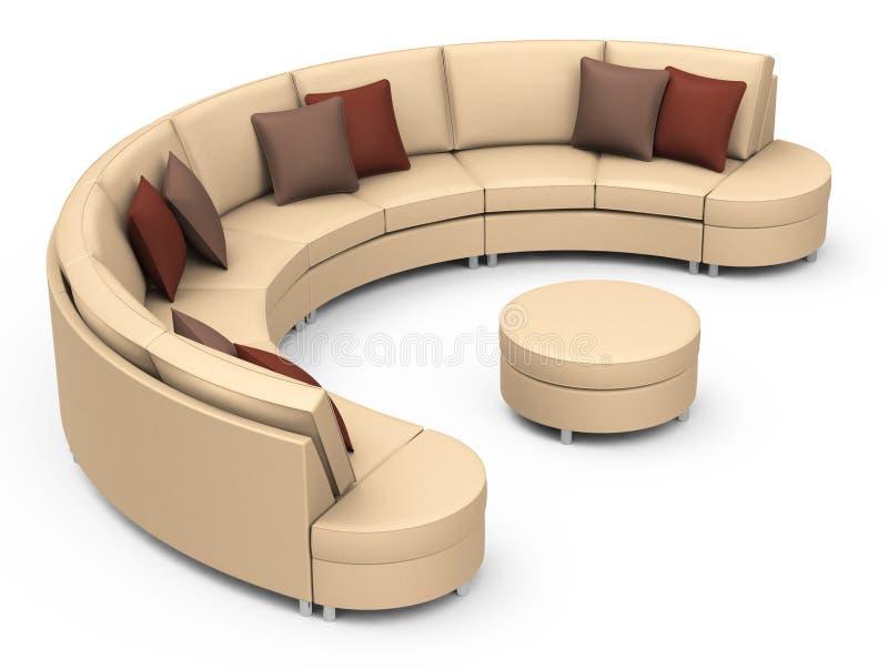 die braune couch stock abbildung illustration von relax 49113684. Black Bedroom Furniture Sets. Home Design Ideas