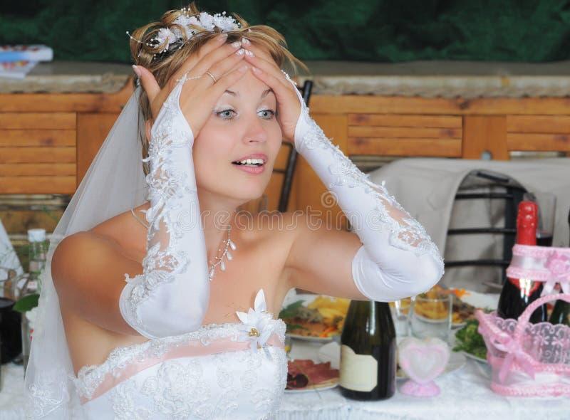 Die Braut nach Tänzen. stockfoto