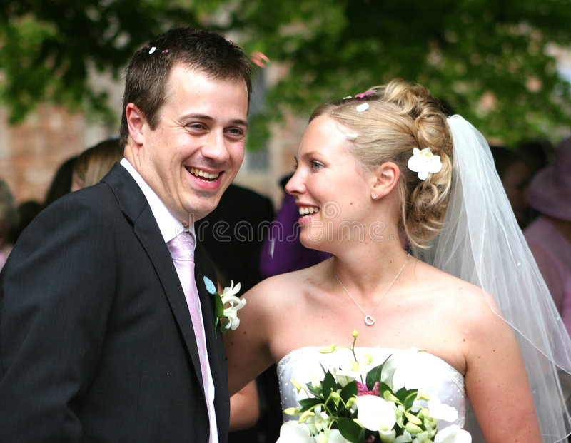 Die Braut und der Bräutigam stockbild