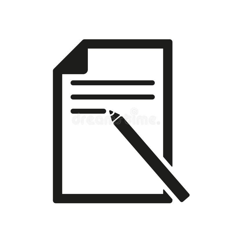 Die Briefpapierikone Textdateisymbol flach stock abbildung