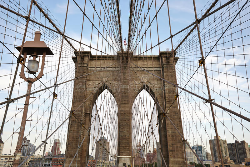 Die Brooklyn-Brücke lizenzfreie stockbilder