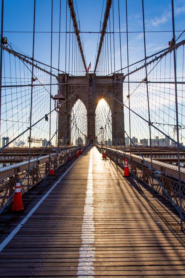 Die Brooklyn-Brücke lizenzfreie stockfotos