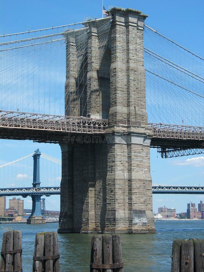 Die Brooklyn-und Manhattan-Brücken Stockfotografie