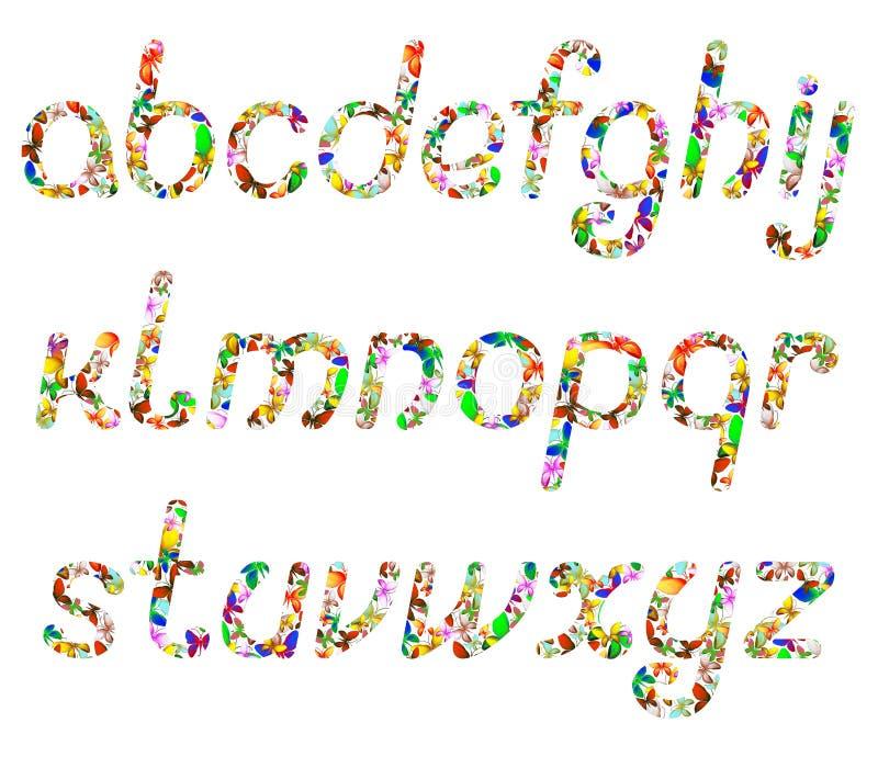 Die Buchstaben des englischen Alphabetes stock abbildung