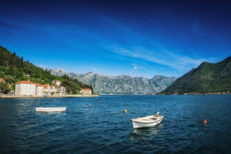 Die Bucht Boka Kotor stockbild