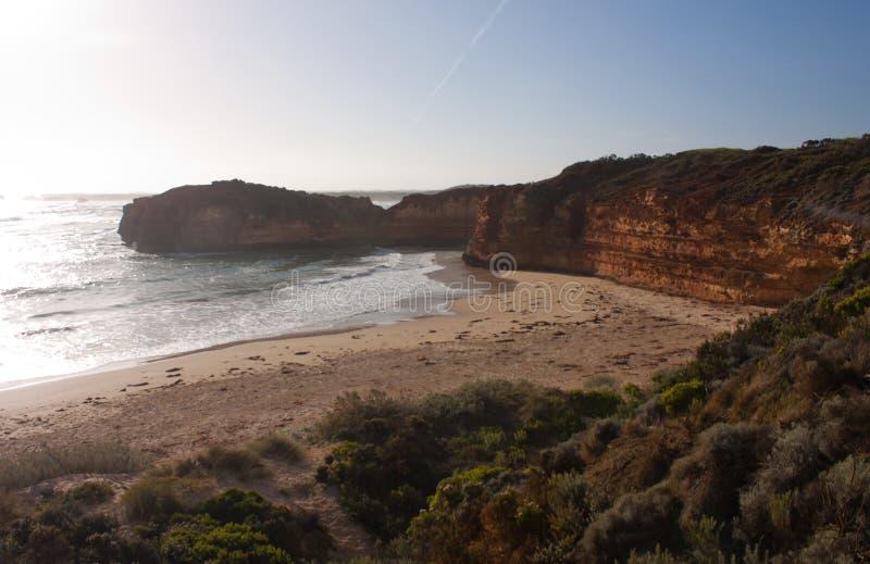 Die Bucht von Märtyrern auf der großen Ozean-Straße in Australien lizenzfreies stockbild