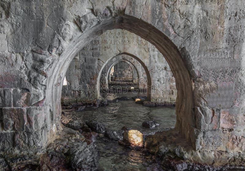 Die bunte Stadt von Alanya, die Türkei stockbild