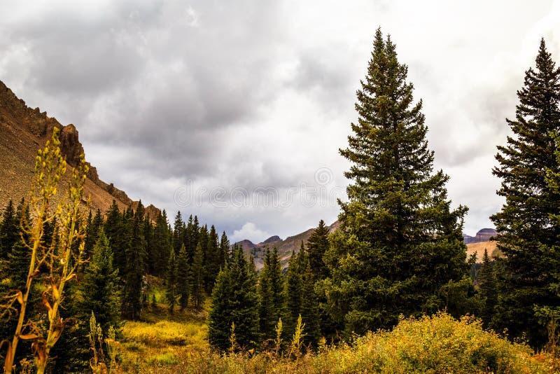 Die bunten Colorado-Berge im Herbst lizenzfreies stockfoto