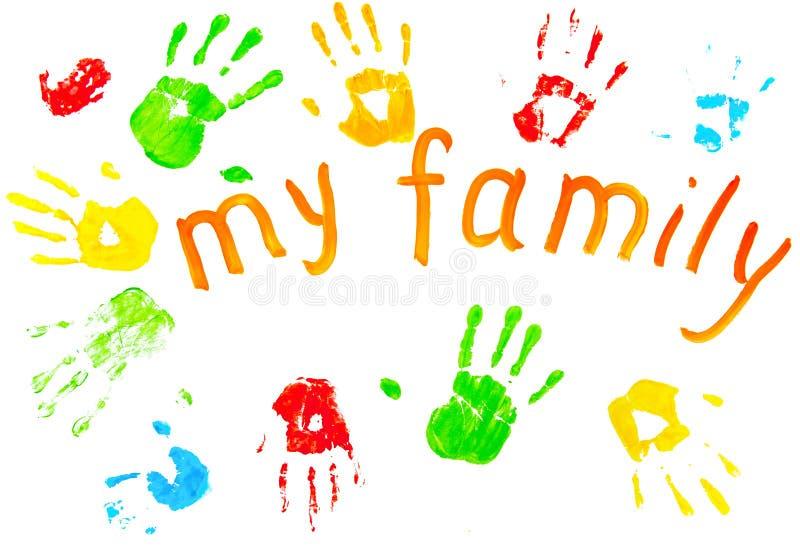 Die Bunten Drucke Der Familie `s Palmen. Lizenzfreie Stockfotografie