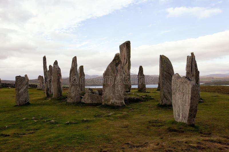 Die Callanish stehenden Steine lizenzfreie stockbilder