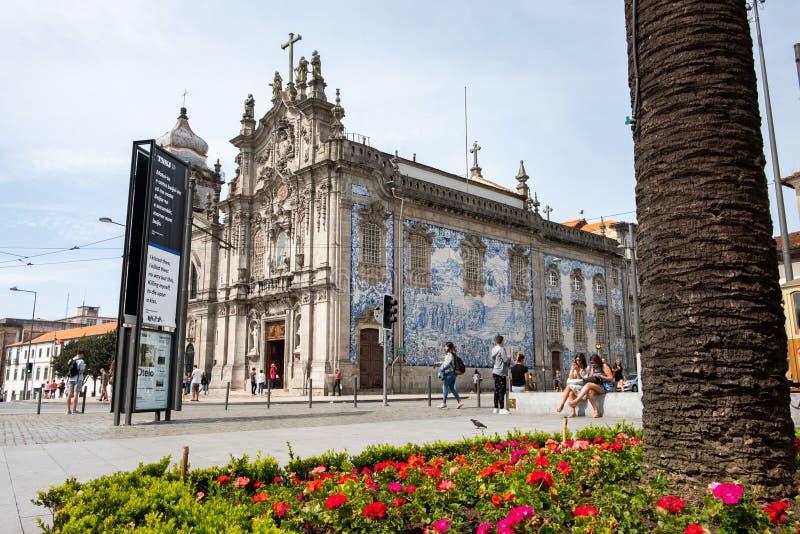 Die Carmo-Kirche Porto lizenzfreies stockfoto