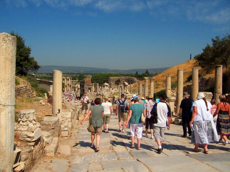 Die Celsus-Bibliothek, die Türkei stockfoto