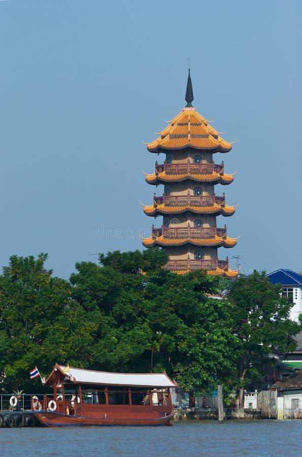 Die Chee Kinn Khor Pagode in Bangkok lizenzfreie stockfotos