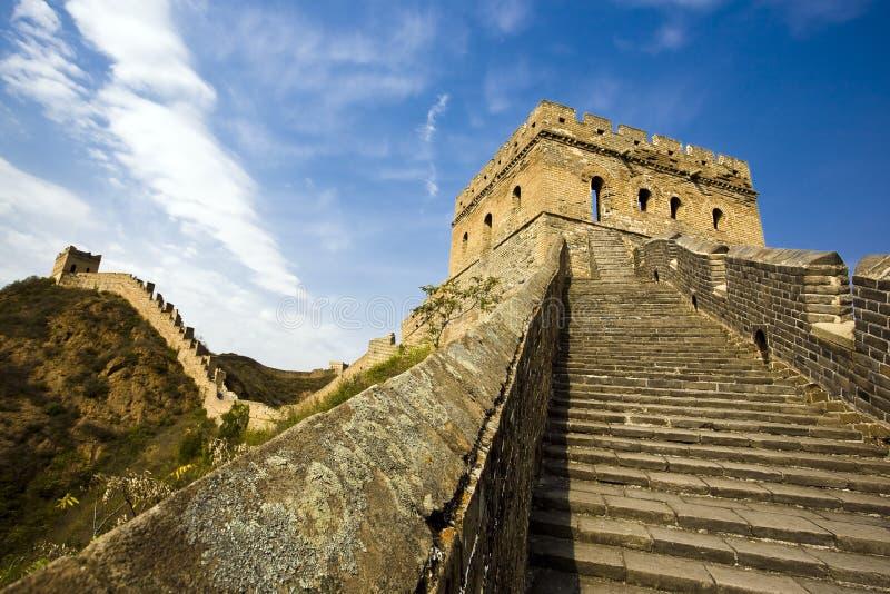 Die Chinesische Mauer des Porzellans stockfotos