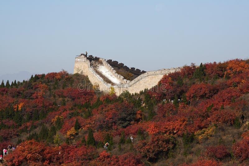 Die Chinesische Mauer im Porzellan stockfotos