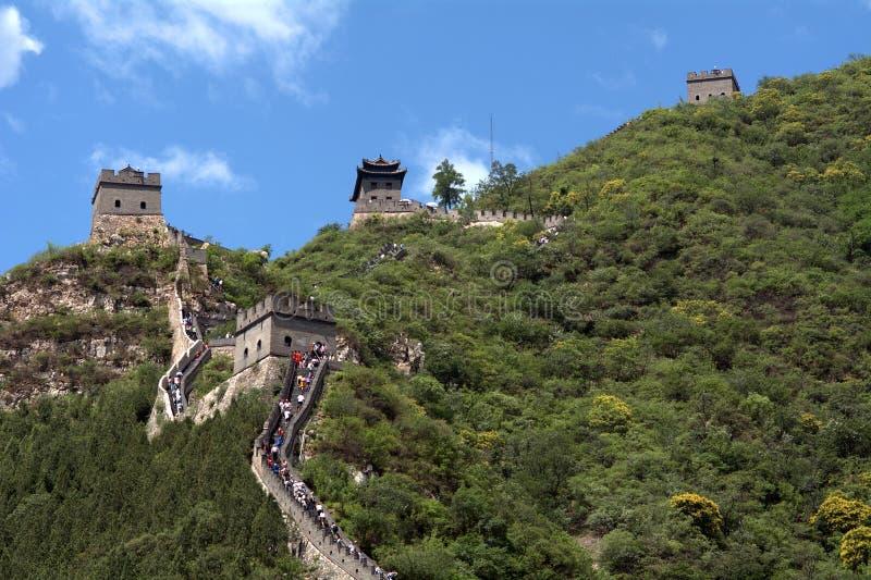 Die Chinesische Mauer, Juyongguan, China stockfoto