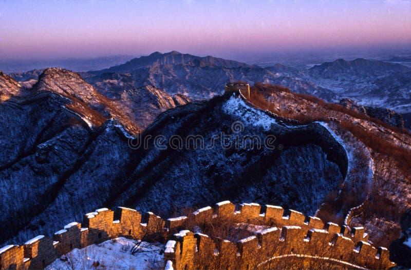 Die Chinesische Mauer von China lizenzfreies stockfoto