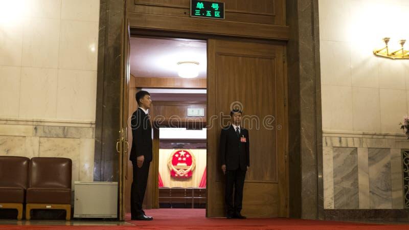 Die chinesischen jährlichen Sitzungen von 12. NPC und von CPPCC stockfotos