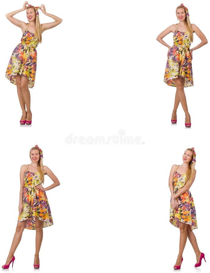 Die Collage des Blickes der Frau in Mode lokalisiert auf Wei? lizenzfreies stockbild