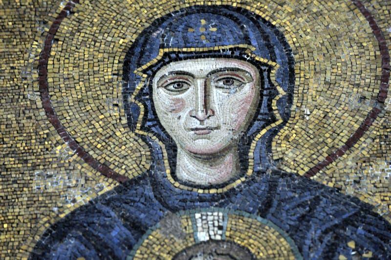 Die Comnenus Mosaiken, Hagia Sophia, Istanbul stockfoto