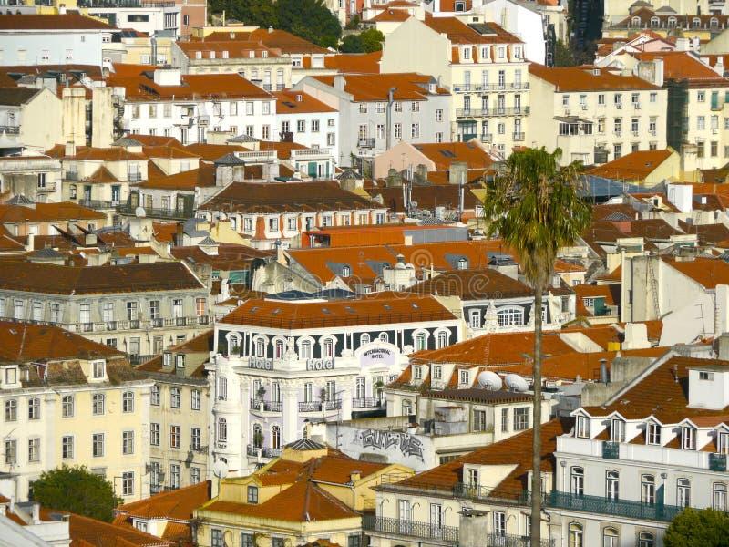 Die Dächer von Portugal stockbild