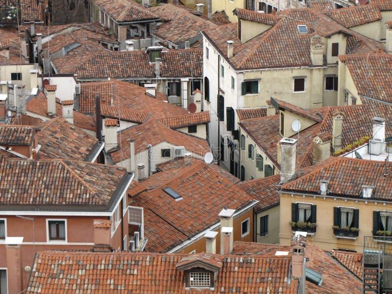 Die Dächer von Venedig stockbilder