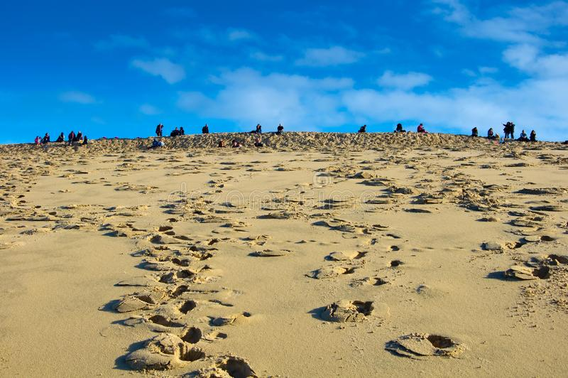Die Dünen von Pilat in Frankreich, das höchste in Europa stockfoto