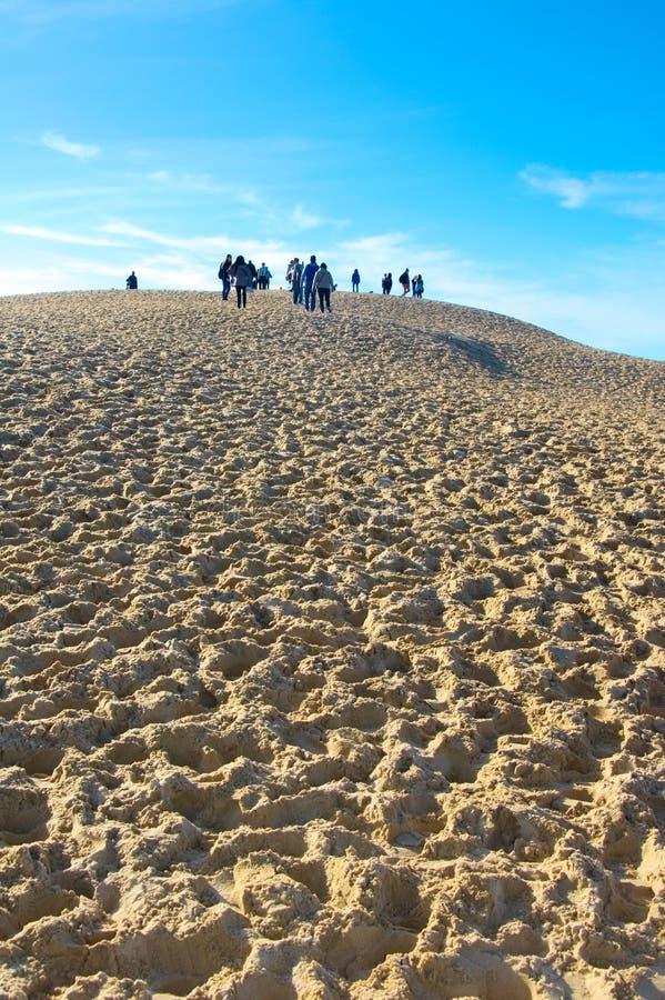 Die Dünen von Pilat in Frankreich, das höchste in Europa lizenzfreie stockfotografie