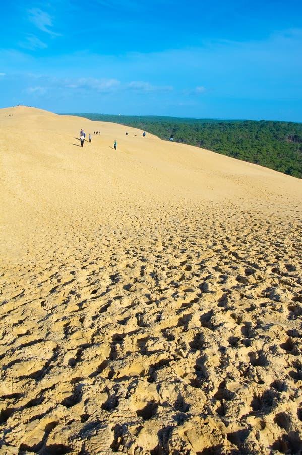 Die Dünen von Pilat in Frankreich, das höchste in Europa stockbilder