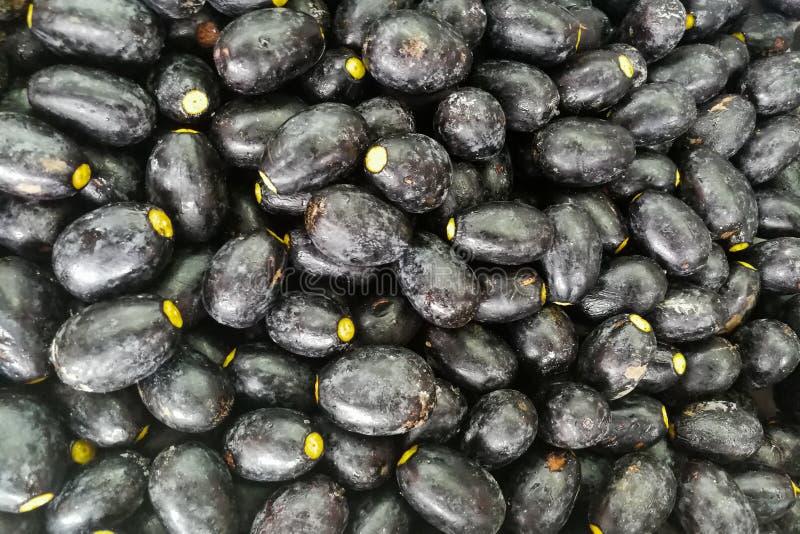 Die Dabai-Frucht, bekannt als Sibu olivgrün, einheimisch in Sarawak lizenzfreies stockbild