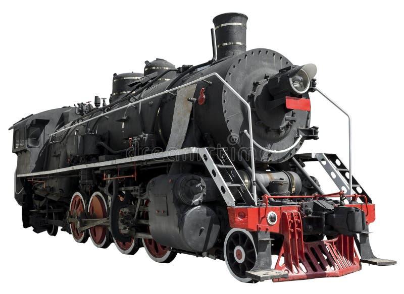 Die Dampflokomotive dreht Nahaufnahme stockfotos