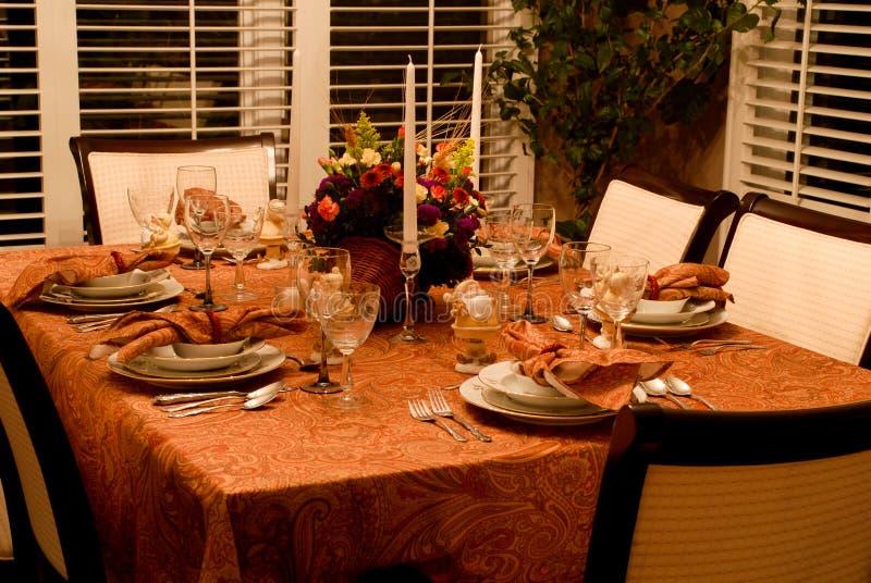 Die Danksagungs-Türkei-Abendessen lizenzfreie stockfotografie